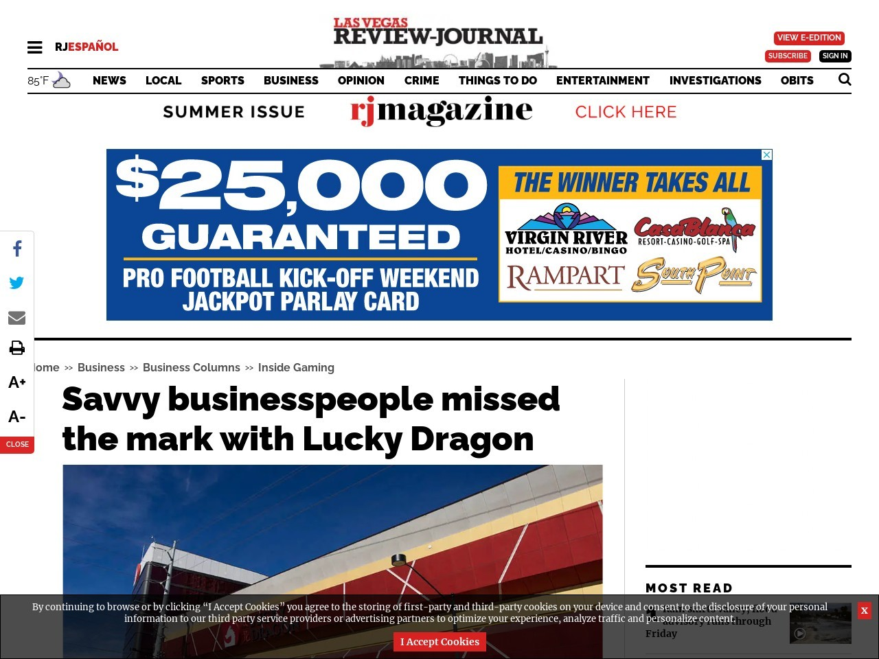 Savvy businesspeople missed the mark with Lucky Dragon