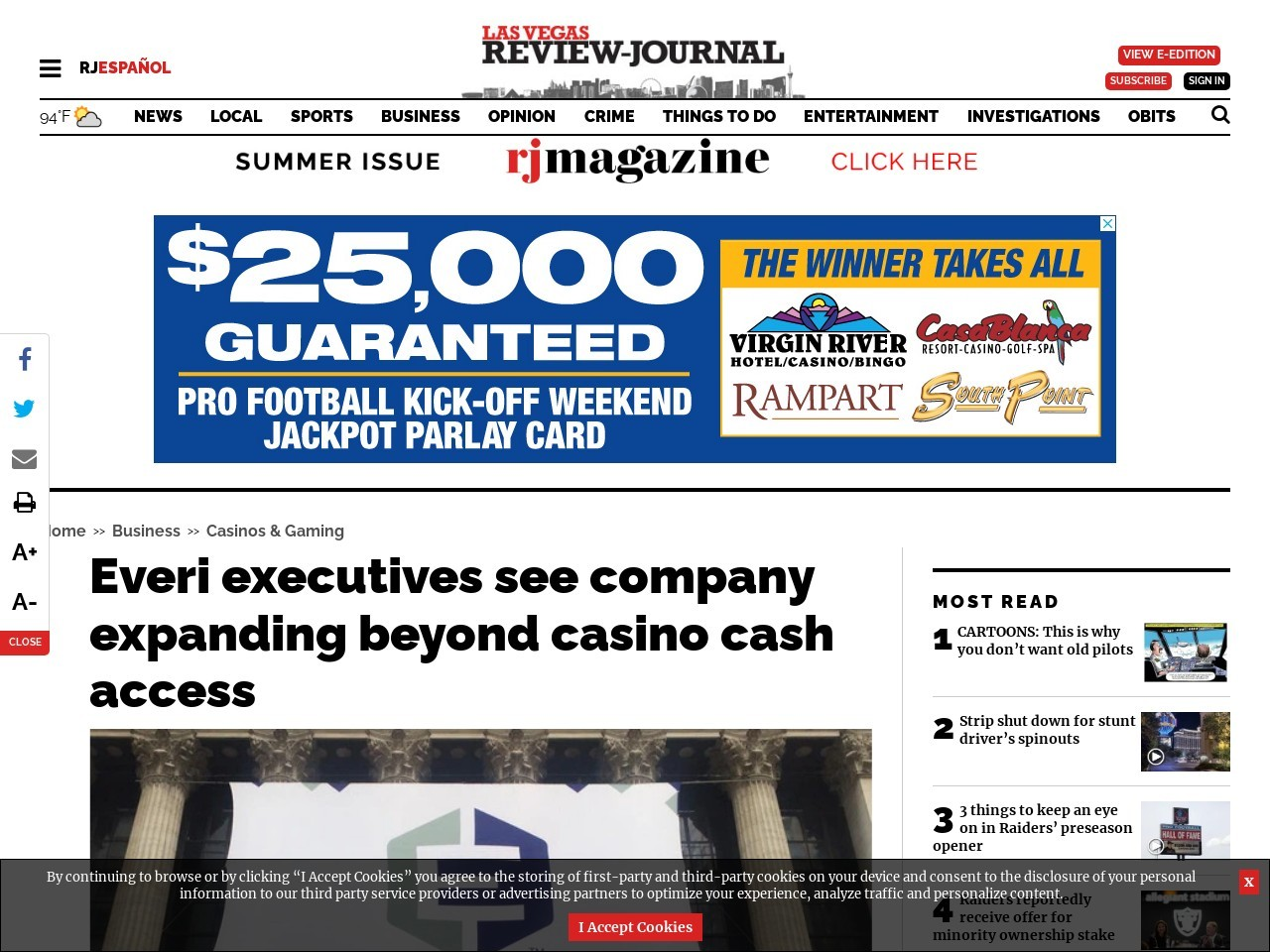 Everi executives see company expanding beyond casino cash access