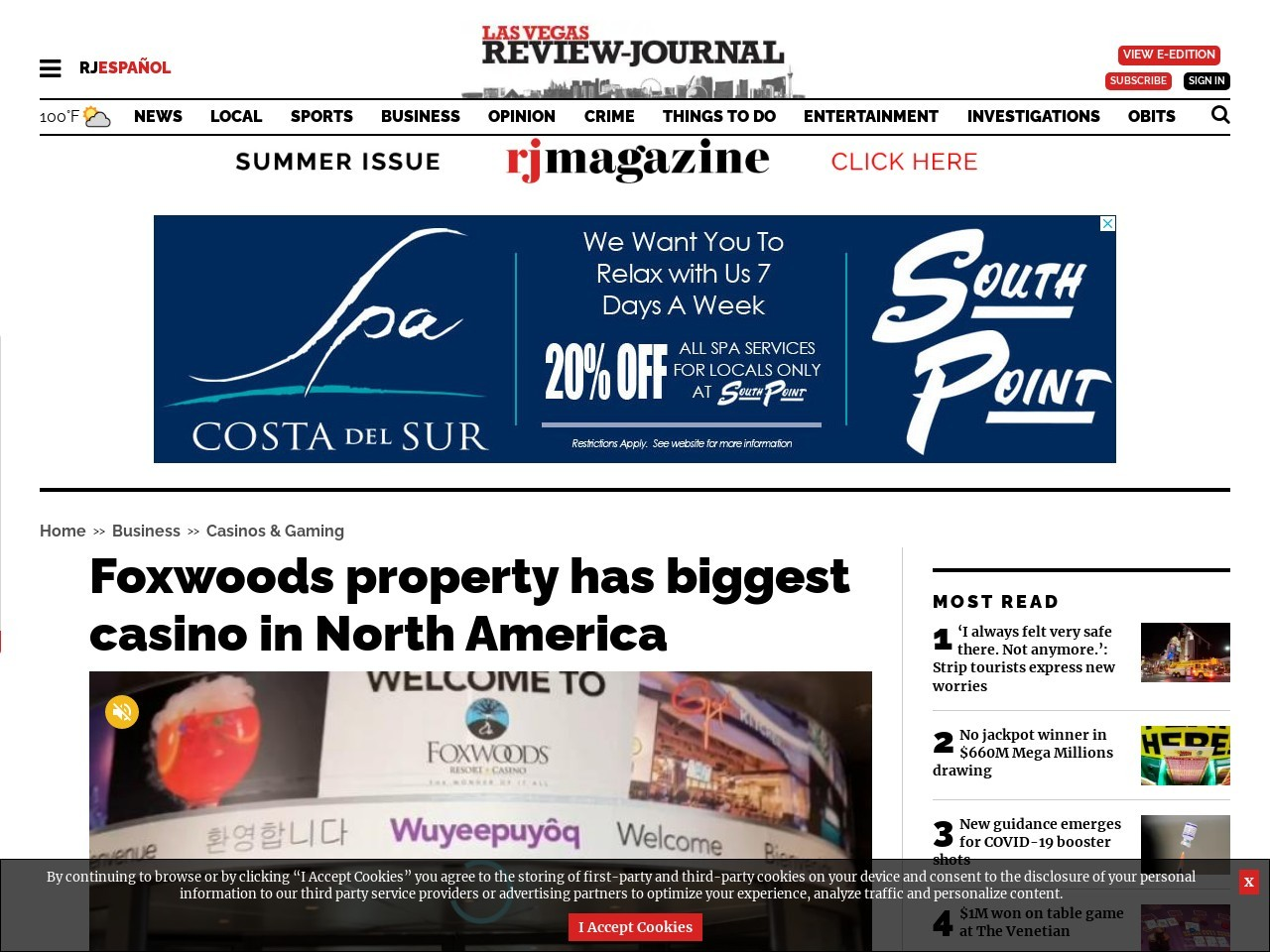 Foxwoods property has biggest casino in North America
