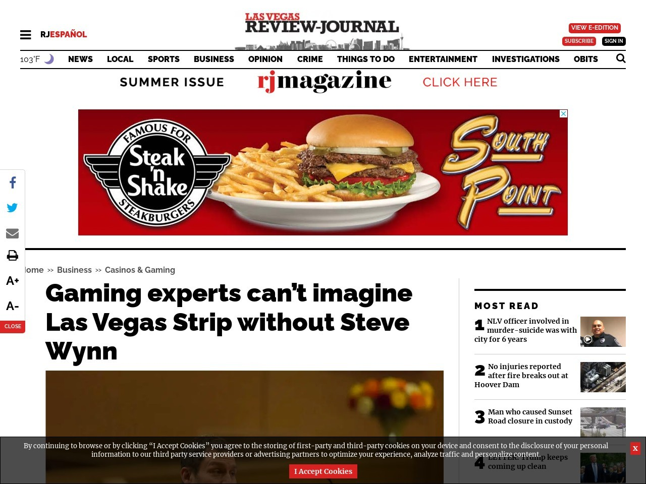 Gaming experts can't imagine Las Vegas Strip without Steve Wynn