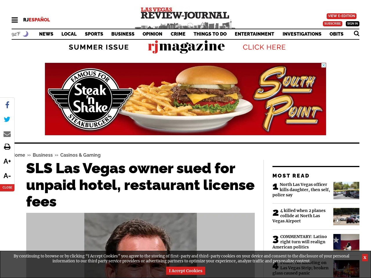 SLS Las Vegas owner sued for unpaid hotel, restaurant license fees