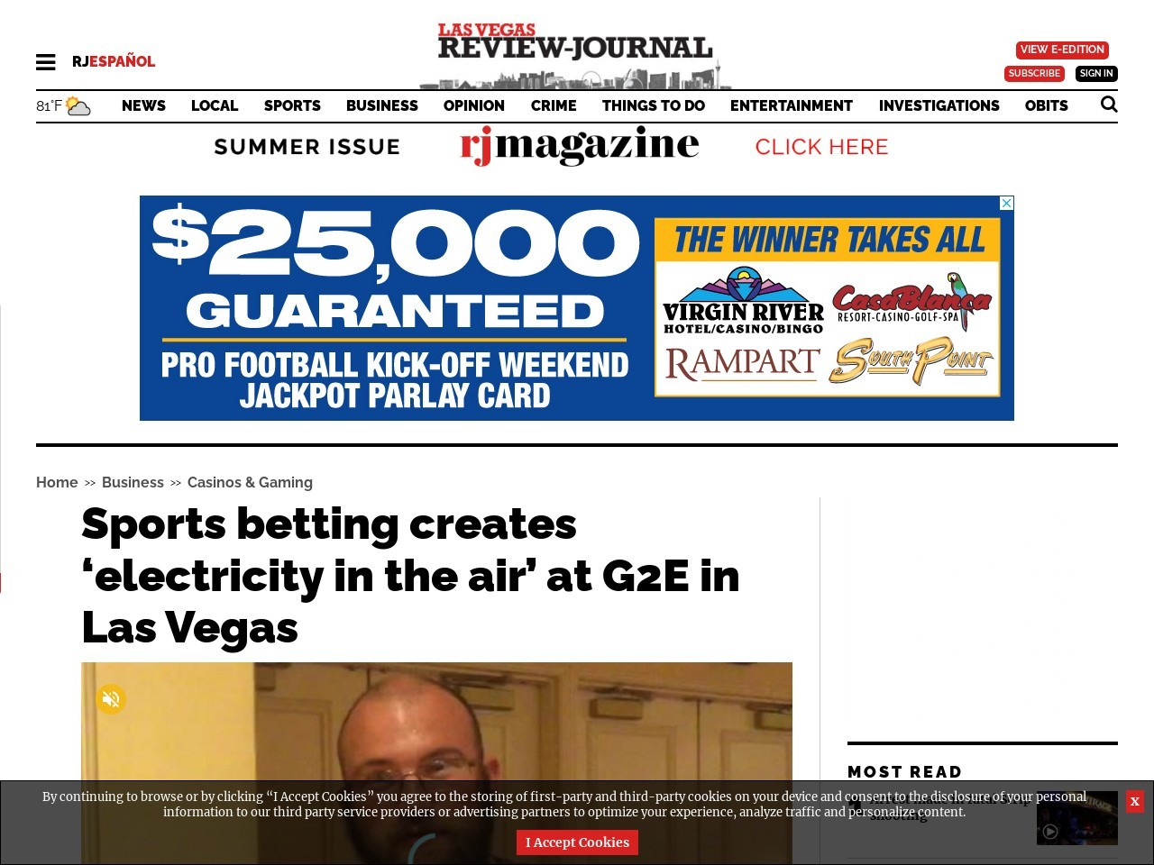 Sports betting creates 'electricity in the air' at G2E in Las Vegas