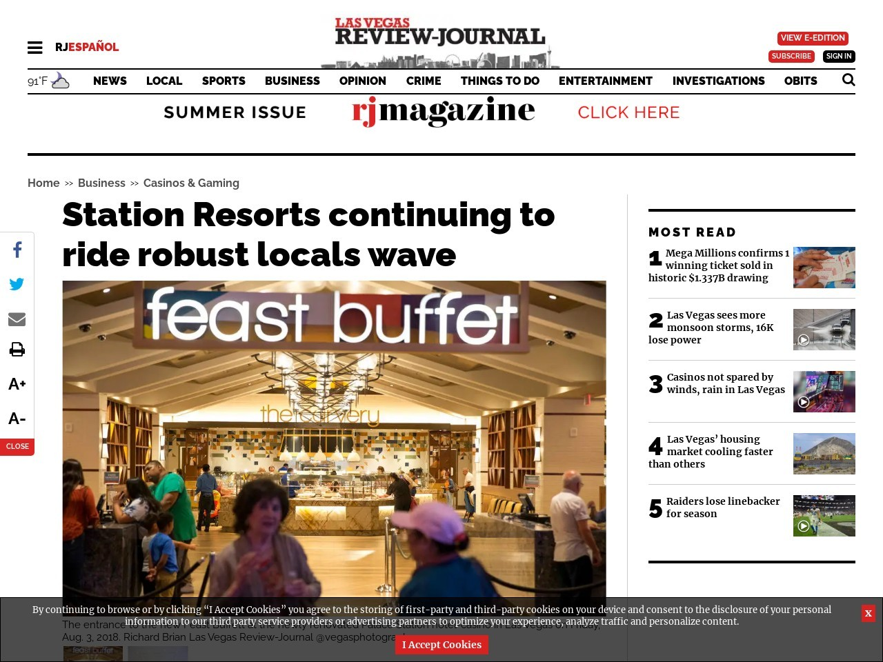 Station Resorts continuing to ride robust locals wave