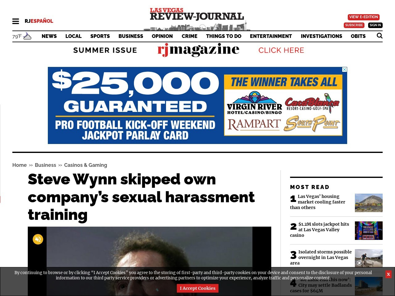 Steve Wynn skipped own company's sexual harassment training