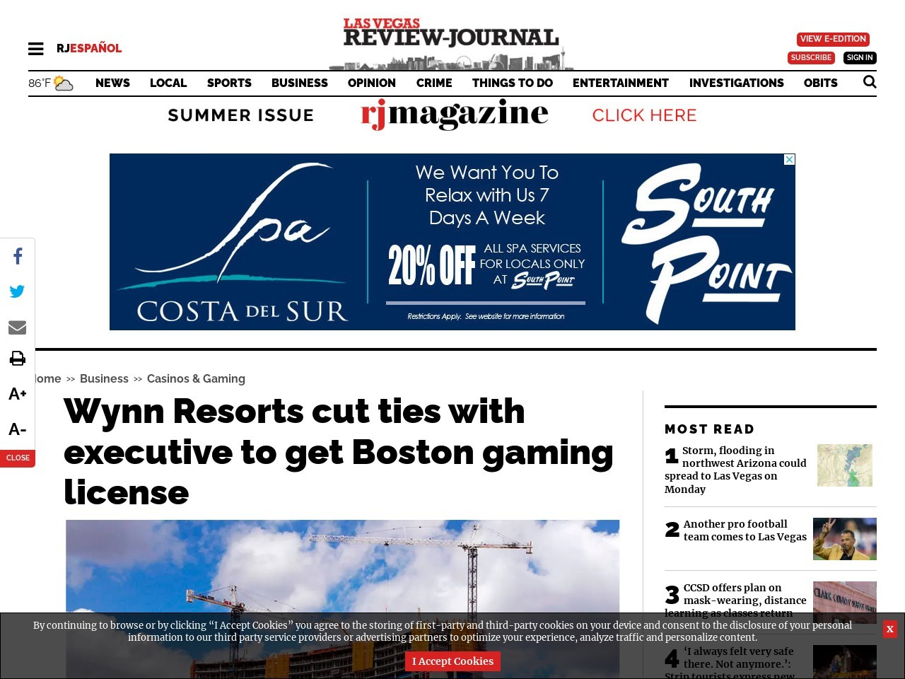 Wynn Resorts cut ties with executive to get Boston gaming license