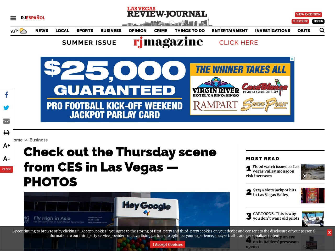 Check out the Thursday scene from CES in Las Vegas — PHOTOS