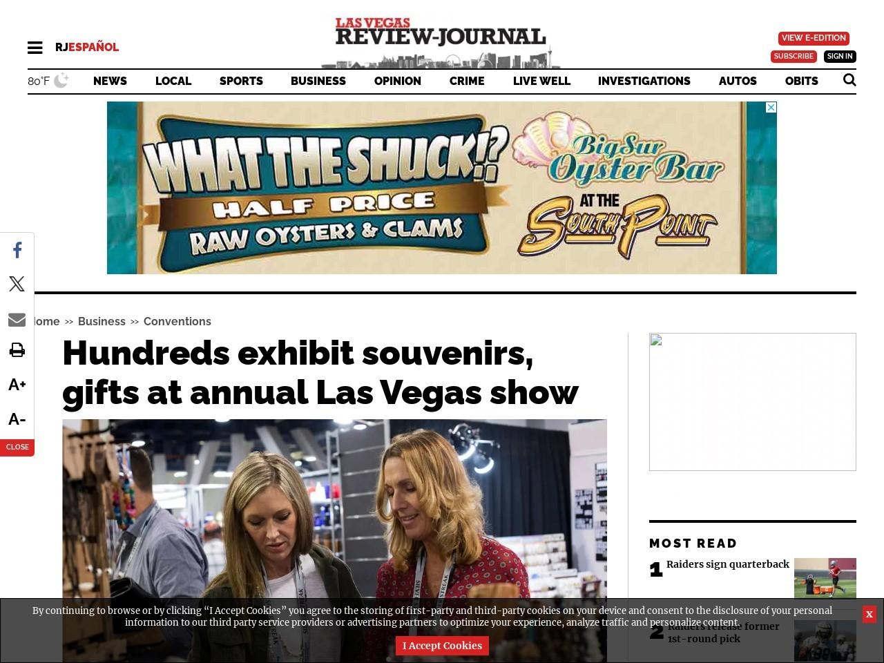 Hundreds exhibit souvenirs, gifts at annual Las Vegas show