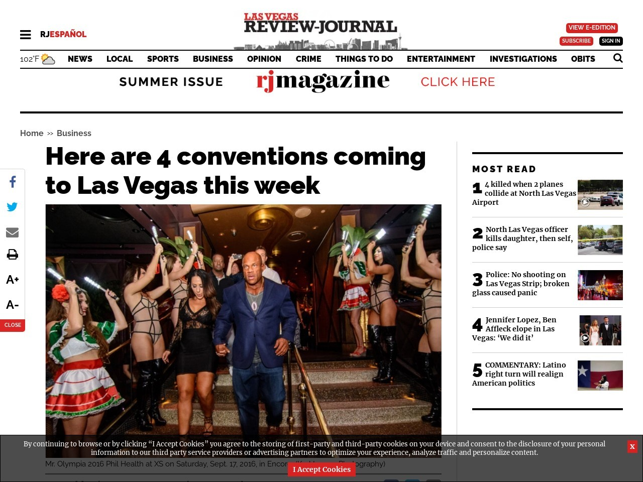 Here are 4 conventions coming to Las Vegas this week