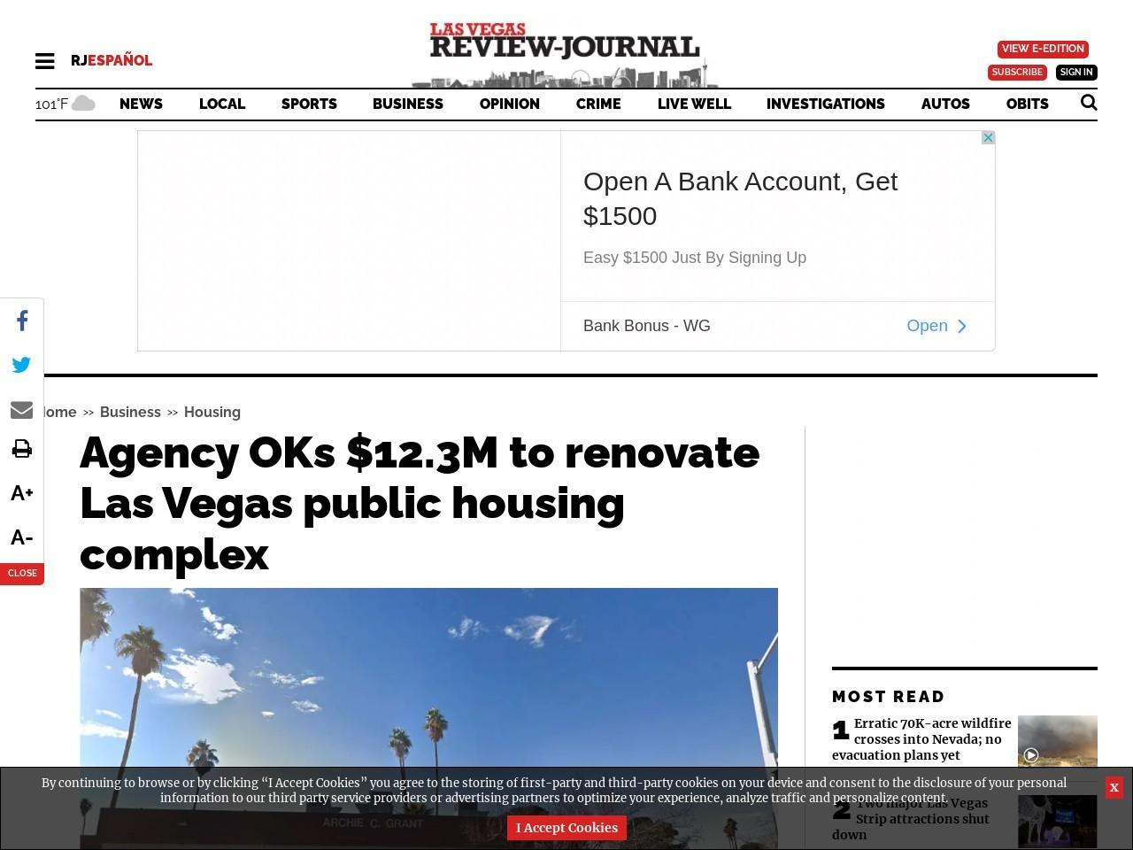 Agency OKs $12.3M to renovate Las Vegas public housing complex