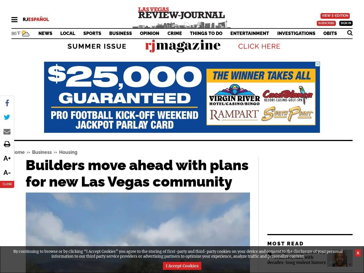 Builders move ahead with plans for new Las Vegas community