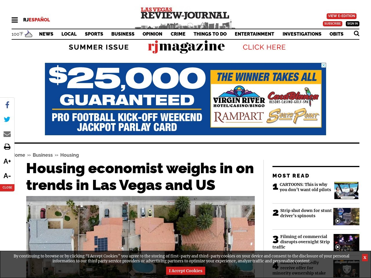 Housing economist weighs in on trends in Las Vegas and US