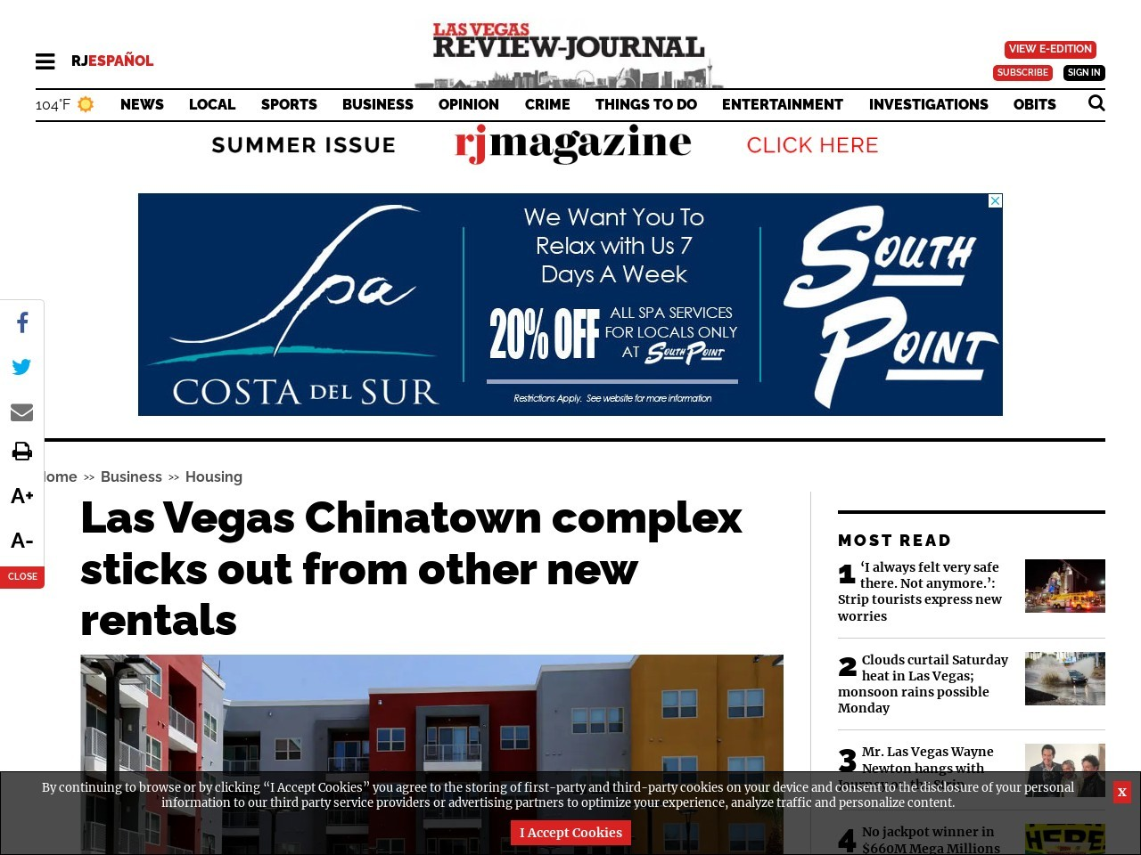 Las Vegas Chinatown complex sticks out from other new rentals
