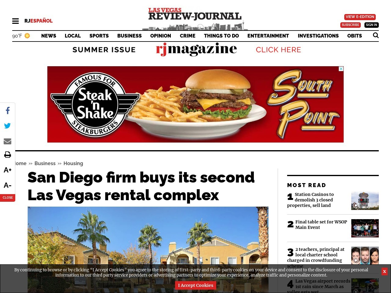 San Diego firm buys its second Las Vegas rental complex