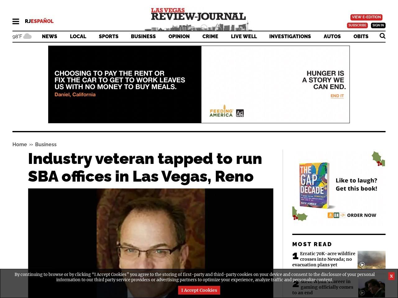 Industry veteran tapped to run SBA offices in Las Vegas, Reno