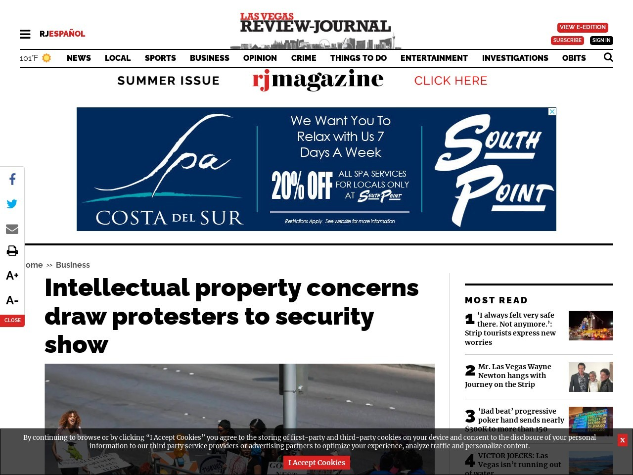 Intellectual property concerns draw protesters to security show