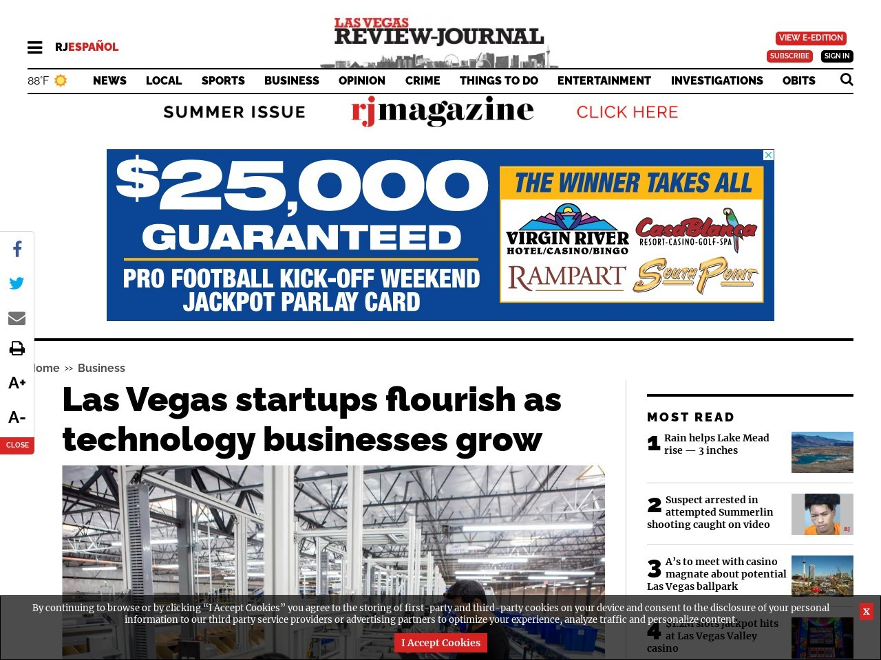 Las Vegas startups flourish as technology businesses grow