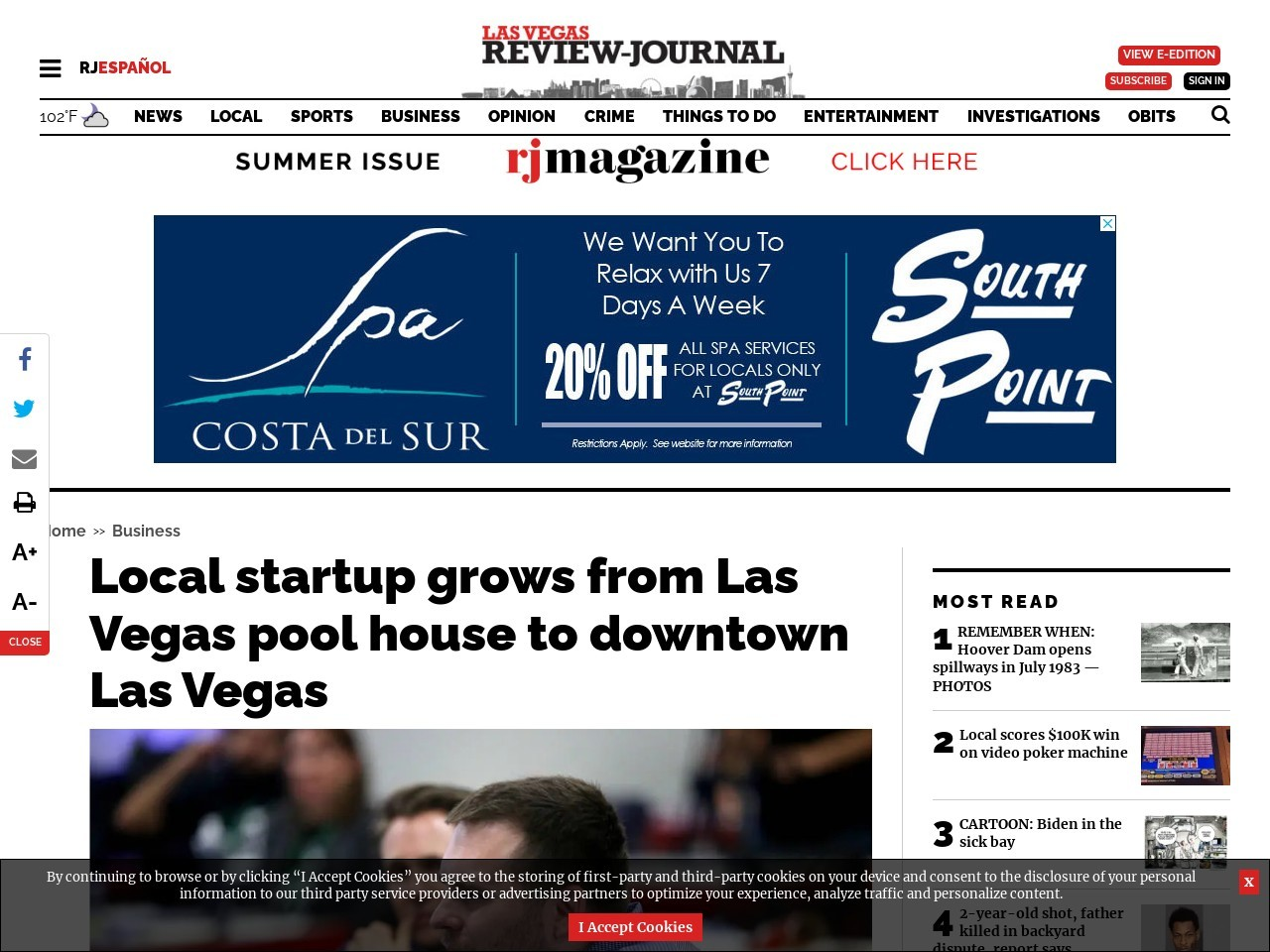 Local startup grows from Las Vegas pool house to downtown Las Vegas