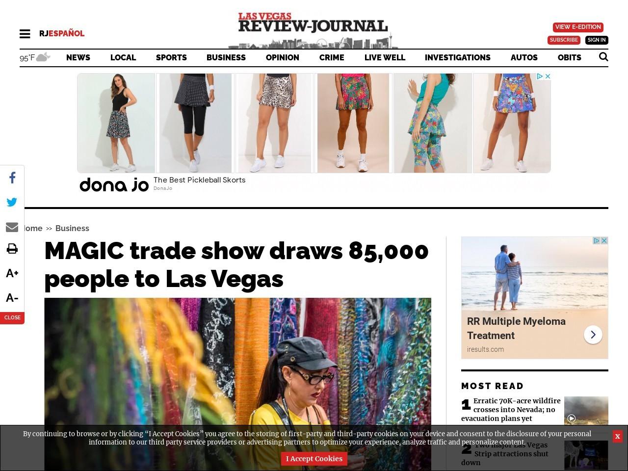 MAGIC trade show draws 85,000 people to Las Vegas