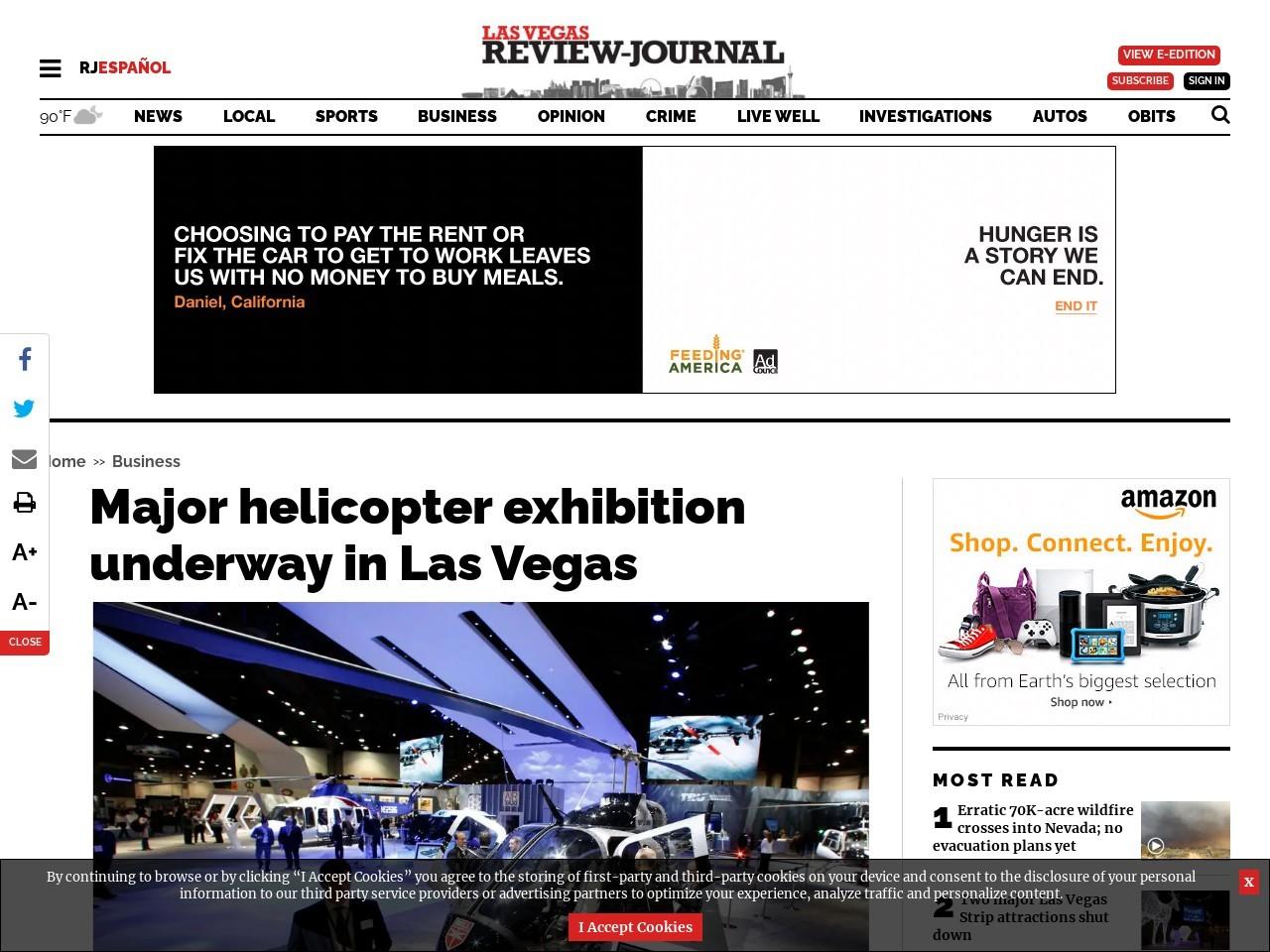 Major helicopter exhibition underway in Las Vegas