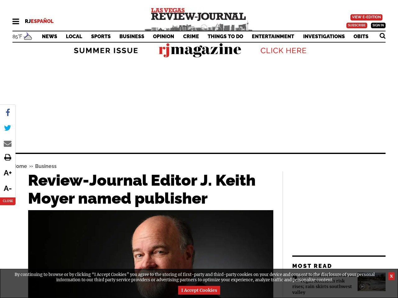 Review-Journal Editor J. Keith Moyer named publisher
