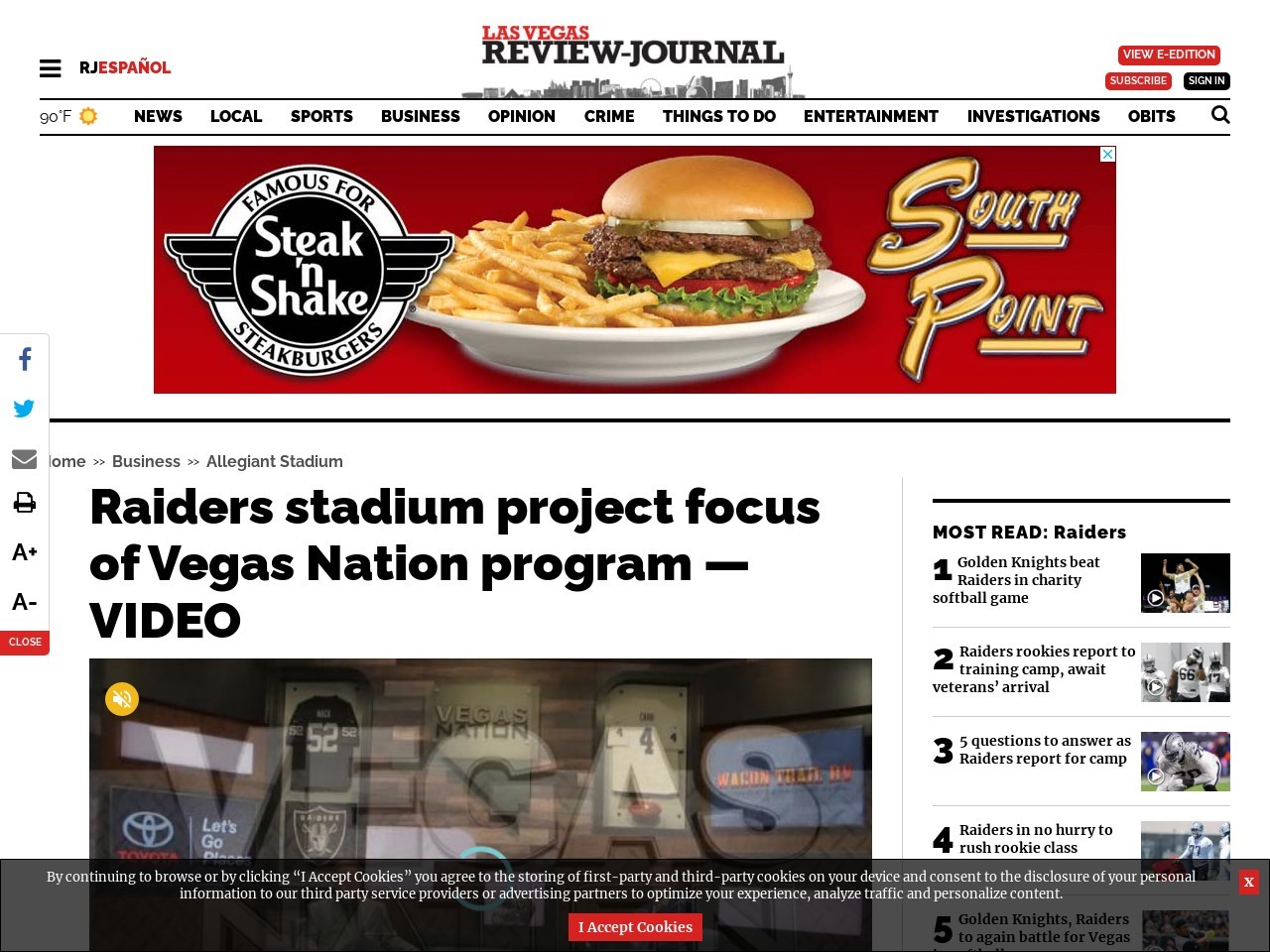Raiders stadium project focus of Vegas Nation program — VIDEO
