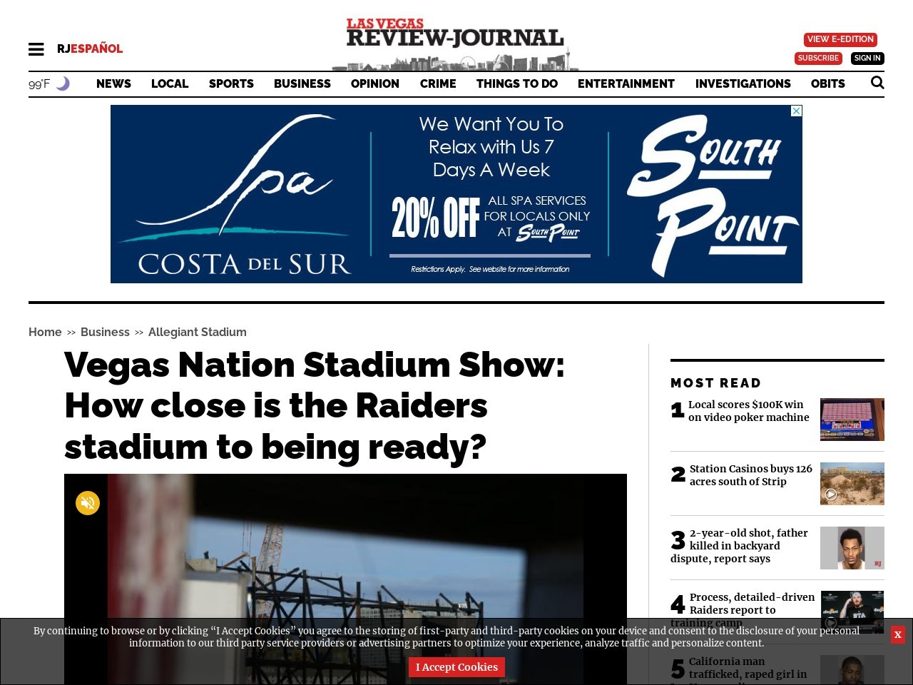 Vegas Nation Stadium Show: How close is the Raiders stadium to being ready?