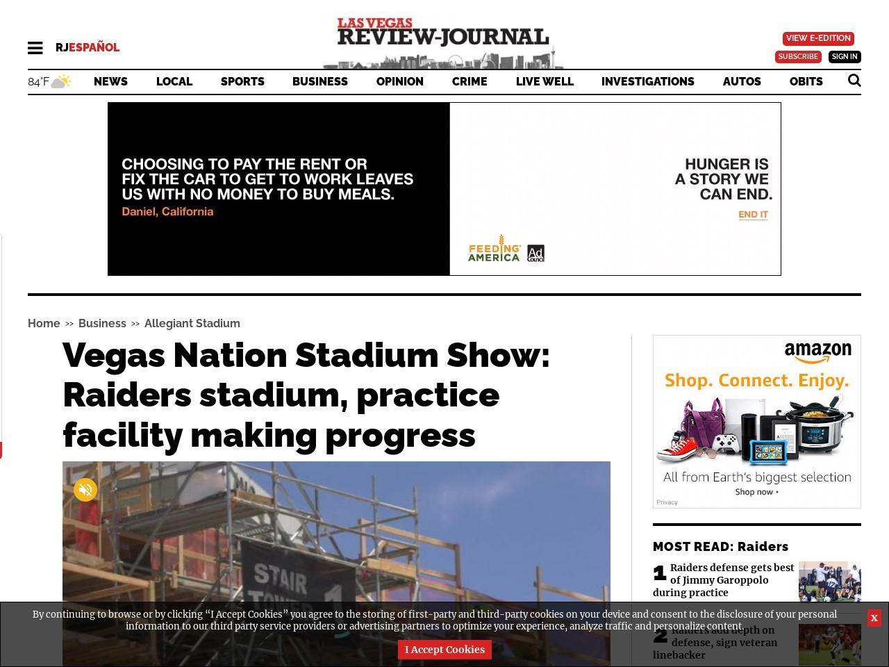 Vegas Nation Stadium Show: Raiders stadium, practice facility making progress