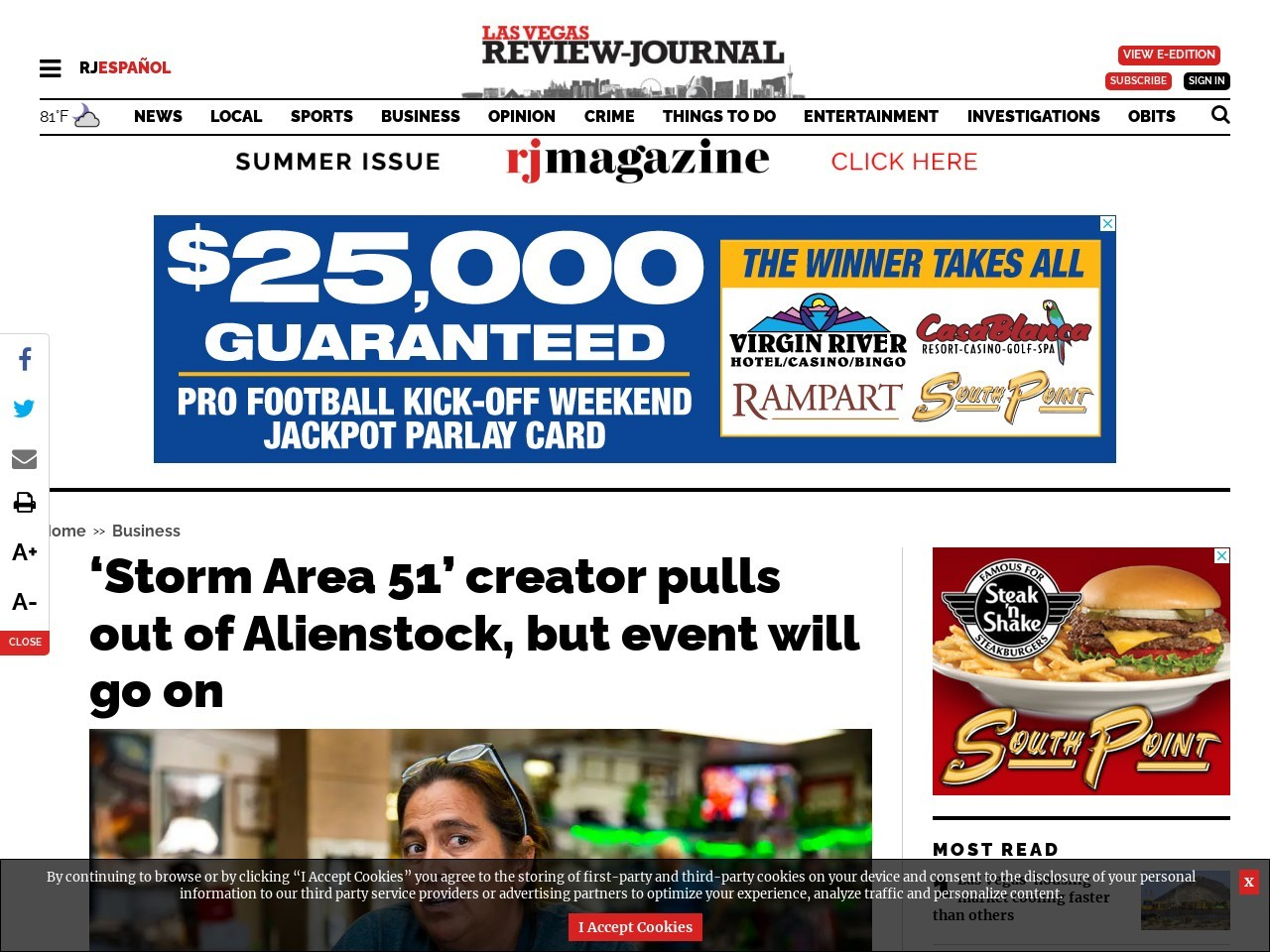 'Storm Area 51' creator pulls out of Alienstock, but event will go on