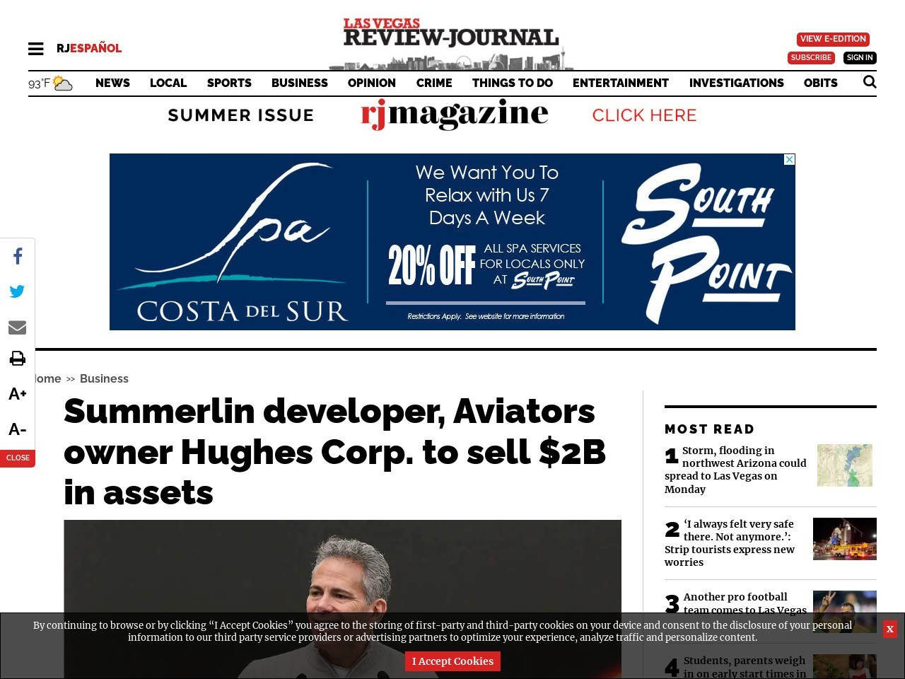 Summerlin developer Hughes replaces CEO; president to step down