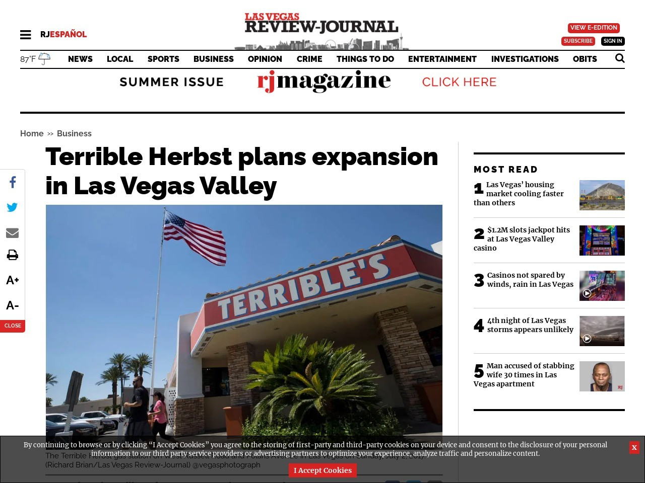 Terrible Herbst plans expansion in Las Vegas Valley