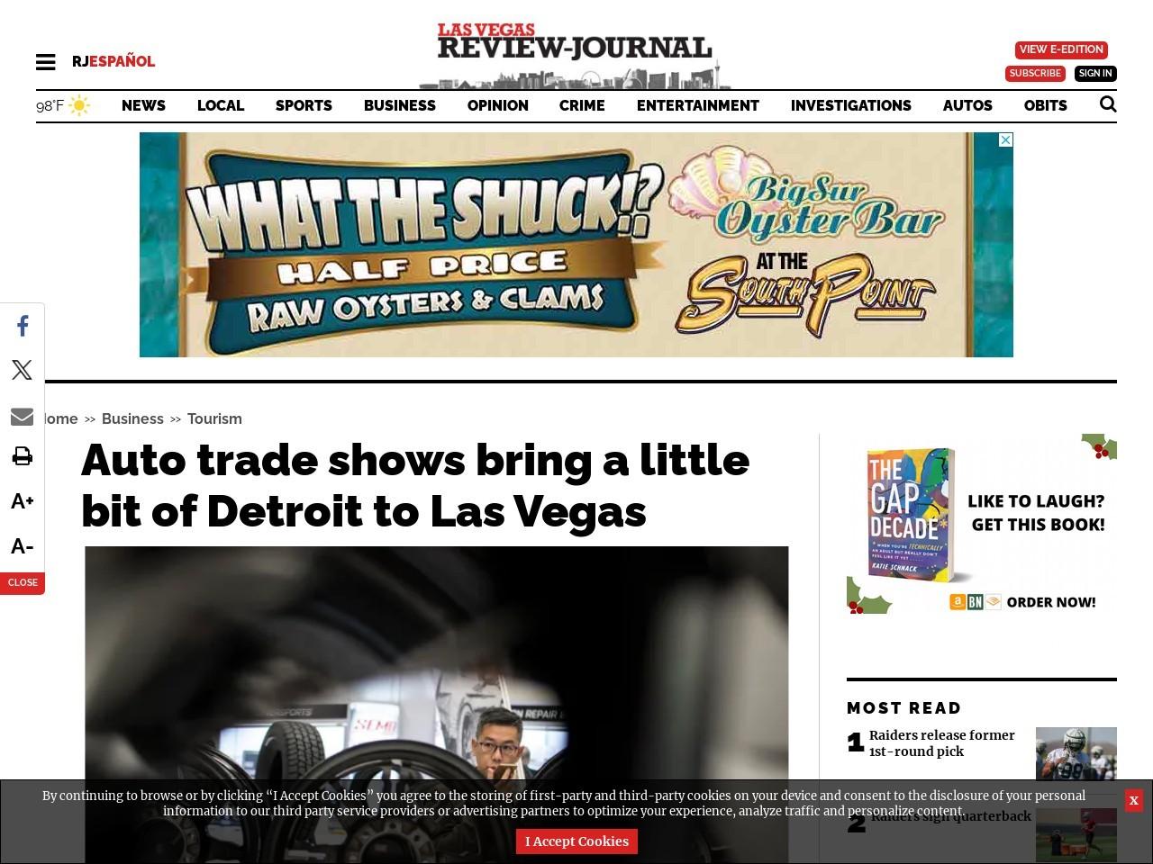 Auto trade shows bring a little bit of Detroit to Las Vegas