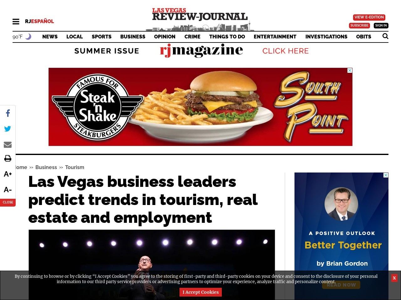 Las Vegas business leaders predict trends in tourism, real estate and employment