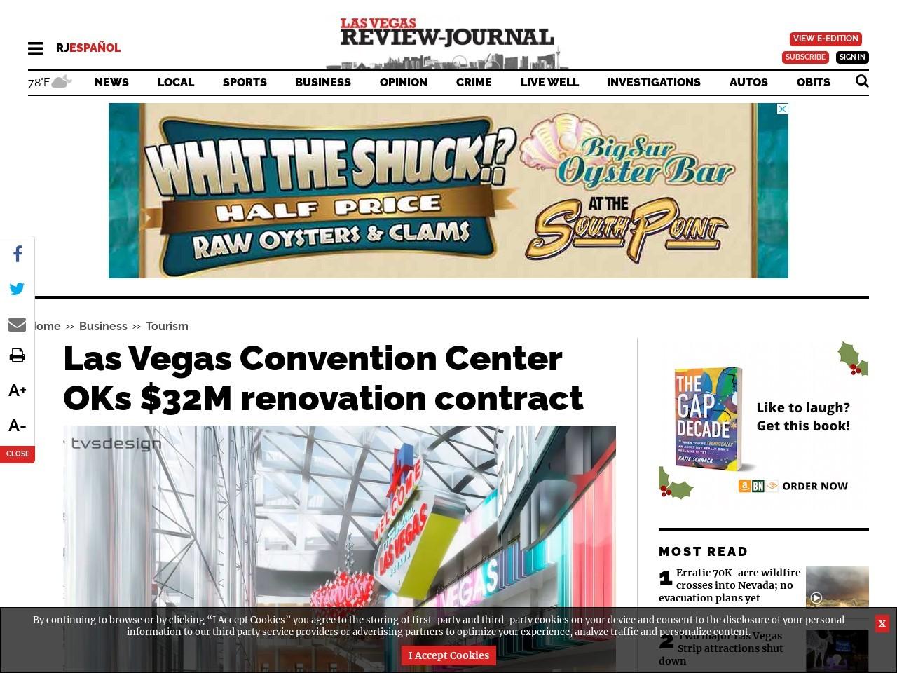 Las Vegas Convention Center OKs $32M renovation contract