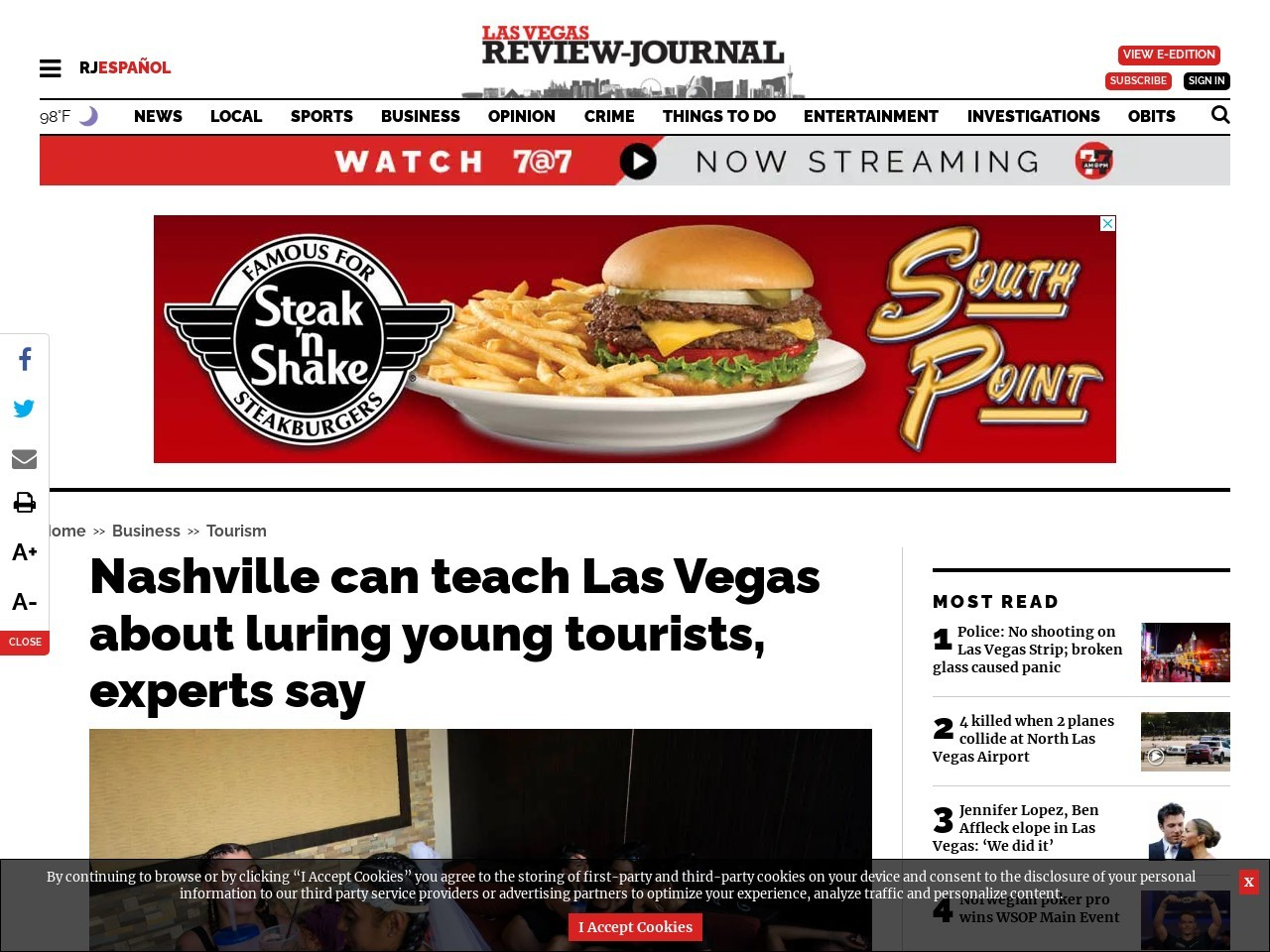 Nashville can teach Las Vegas about luring young tourists, experts say