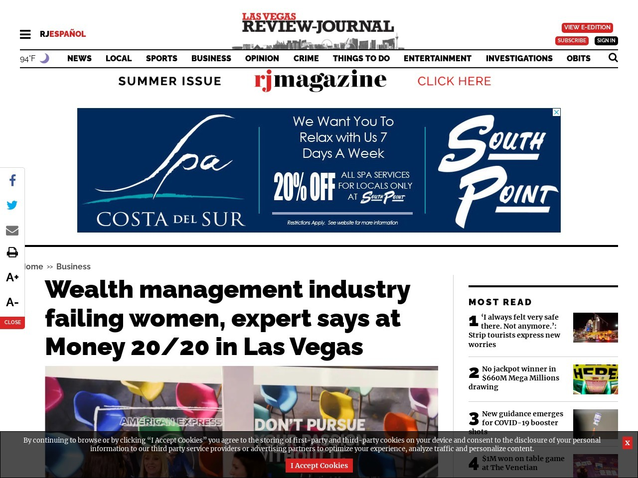 Wealth management industry failing women, expert says at Money 20/20 in Las Vegas