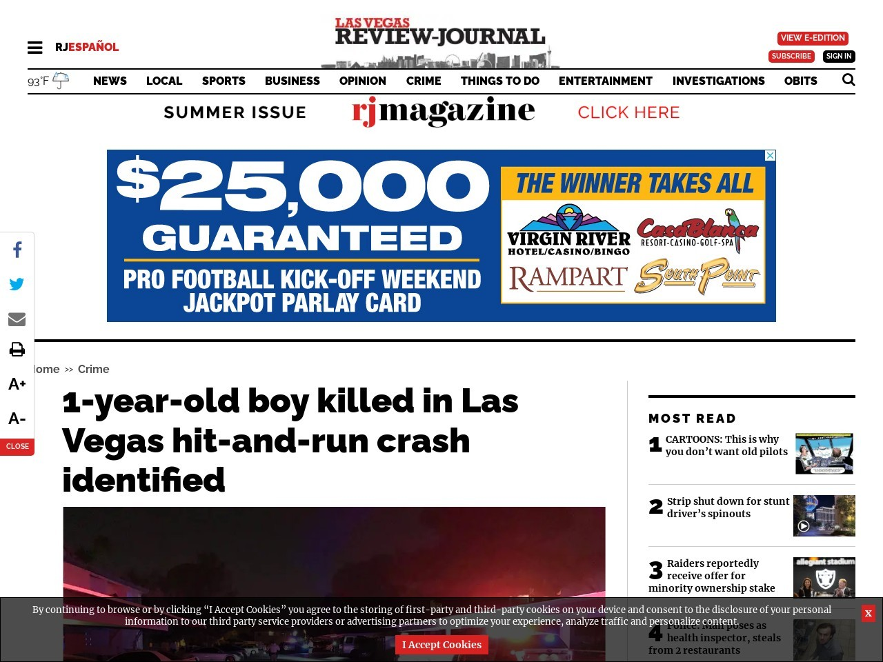1-year-old boy killed in Las Vegas hit-and-run crash identified