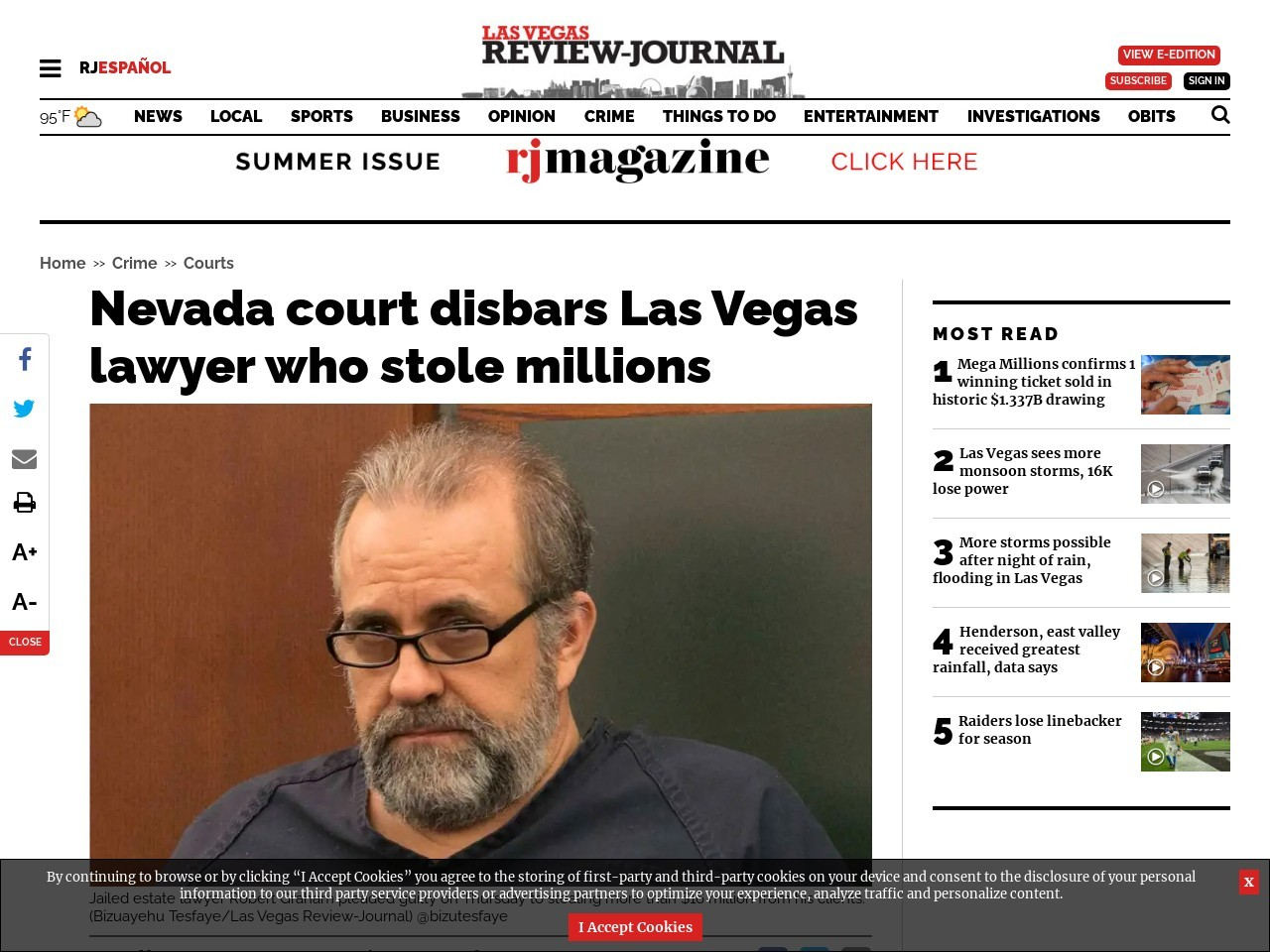 Nevada court disbars Las Vegas lawyer who stole millions