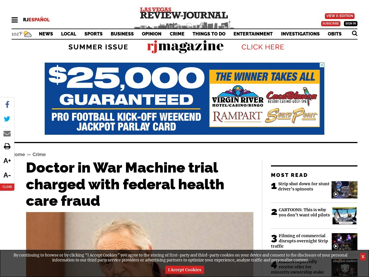 Doctor in War Machine trial charged with federal health care fraud