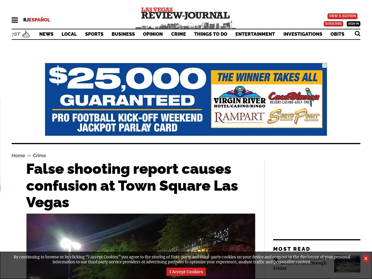False shooting report causes confusion at Town Square Las Vegas