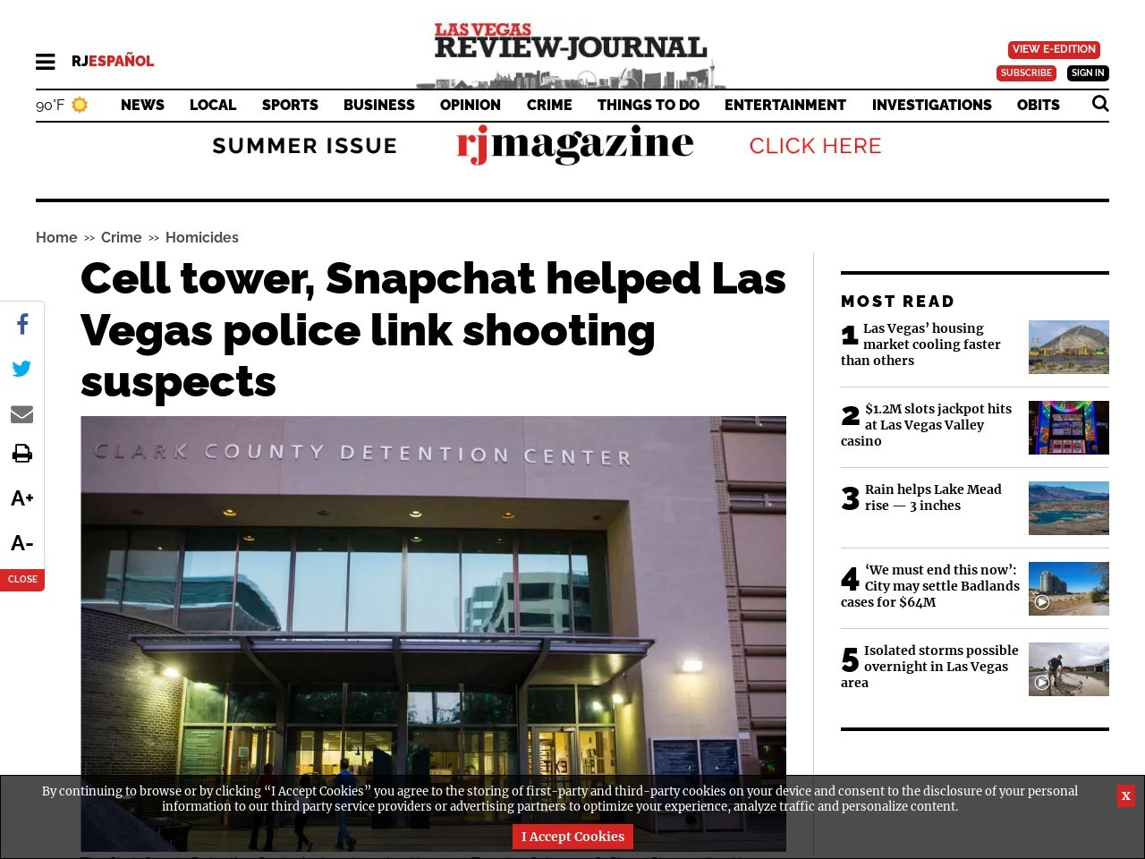Cell tower, Snapchat helped Las Vegas police link shooting suspects