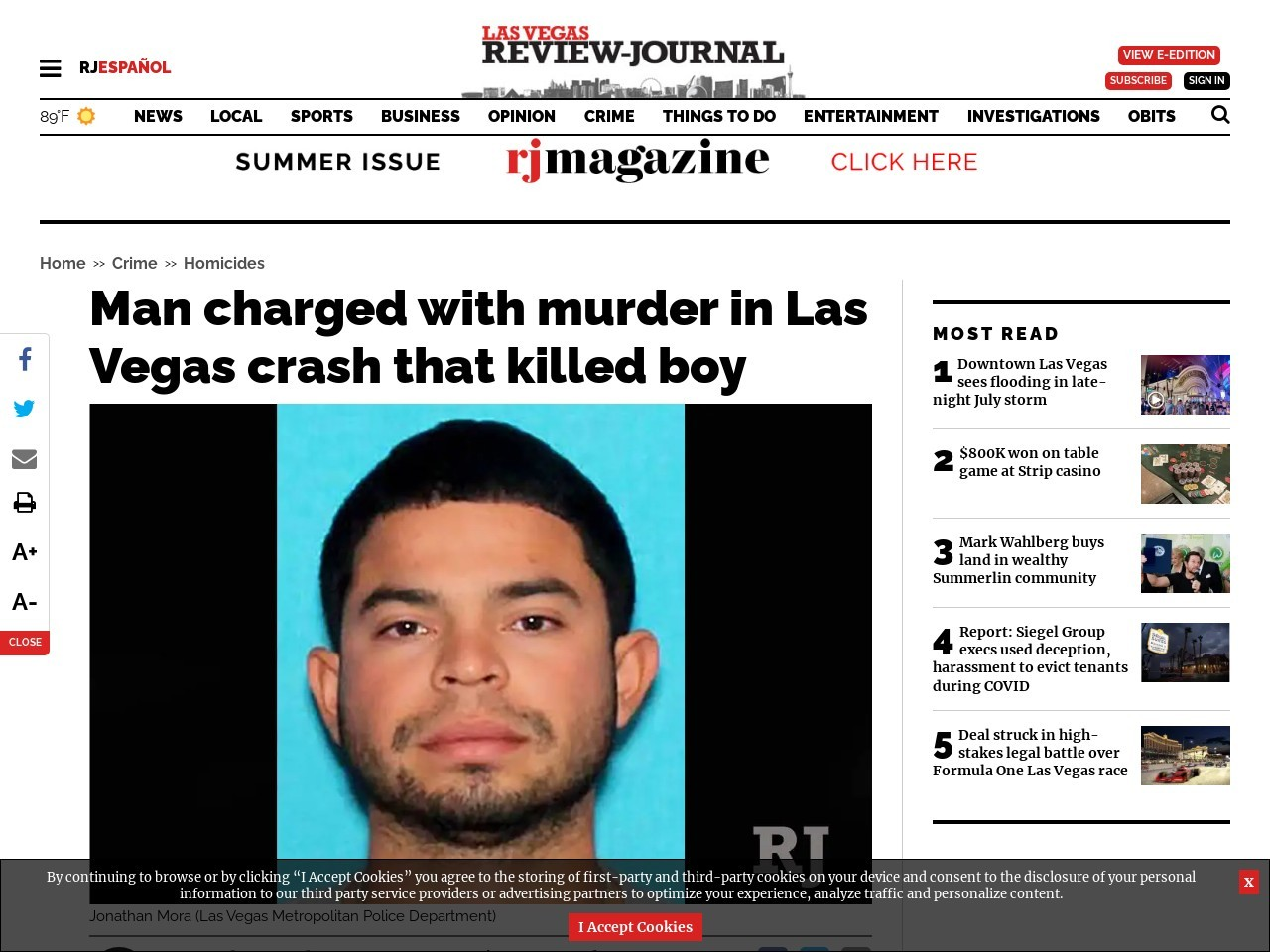 Man charged with murder in Las Vegas crash that killed boy