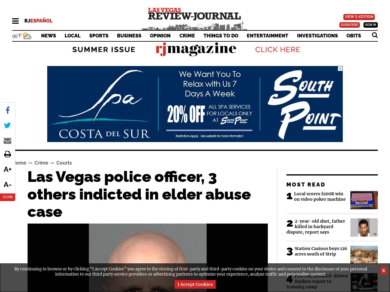 Las Vegas police officer, three others indicted in elder abuse case