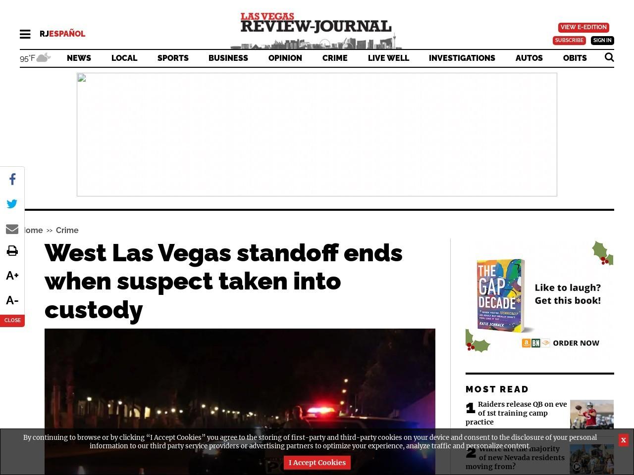 Las Vegas police respond to armed man at apartment