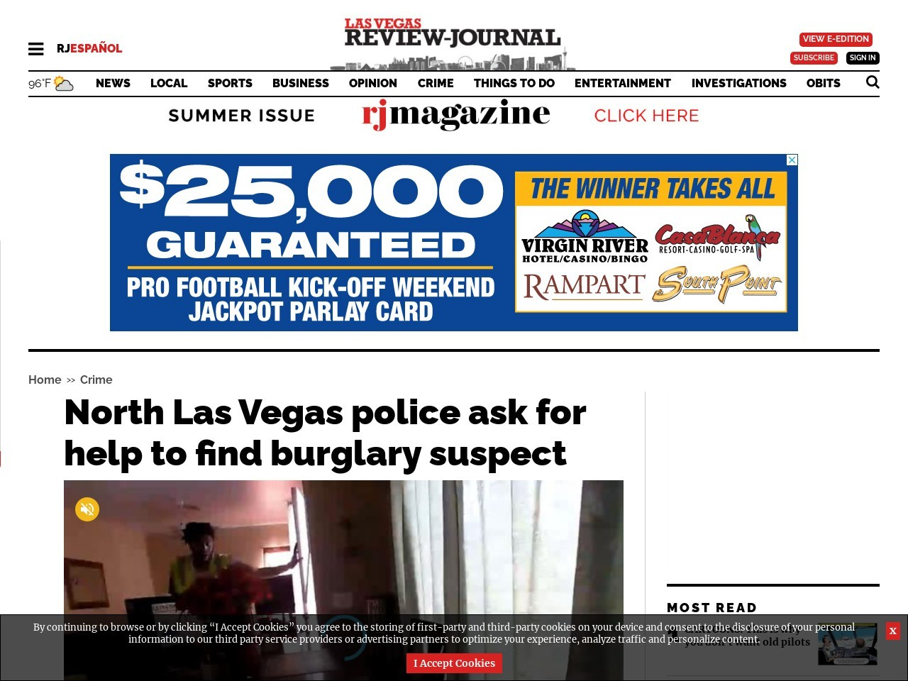 North Las Vegas police ask for help to find burglary suspect