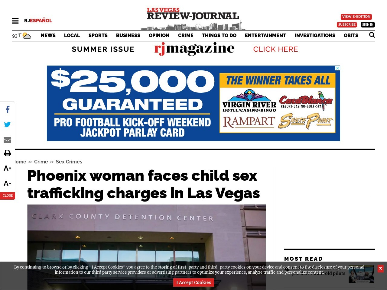 Phoenix woman faces child sex trafficking charges in Las Vegas