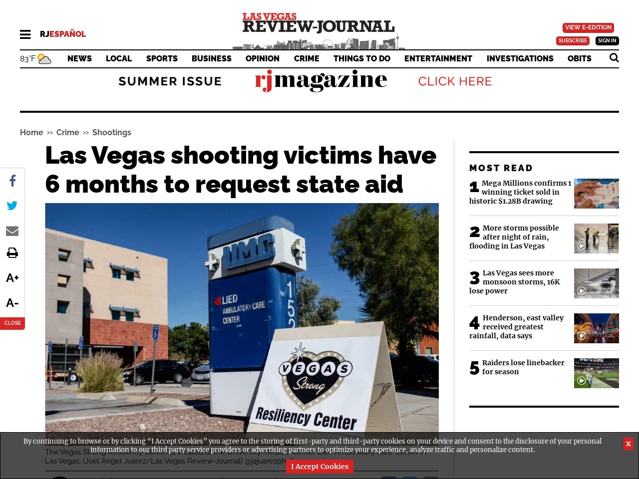 6 months left for Las Vegas shooting victims to seek state aid