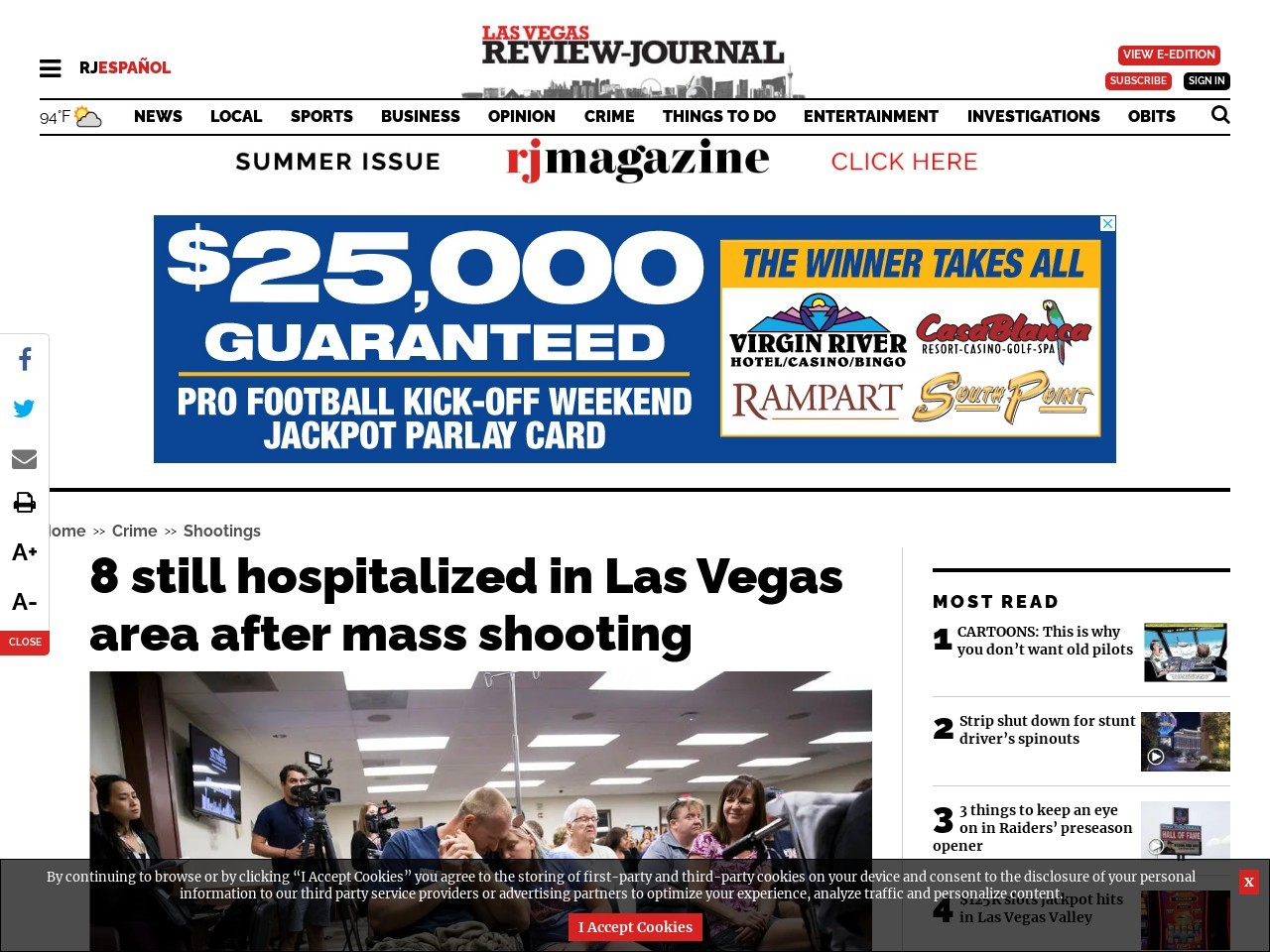 8 still hospitalized in Las Vegas area after mass shooting
