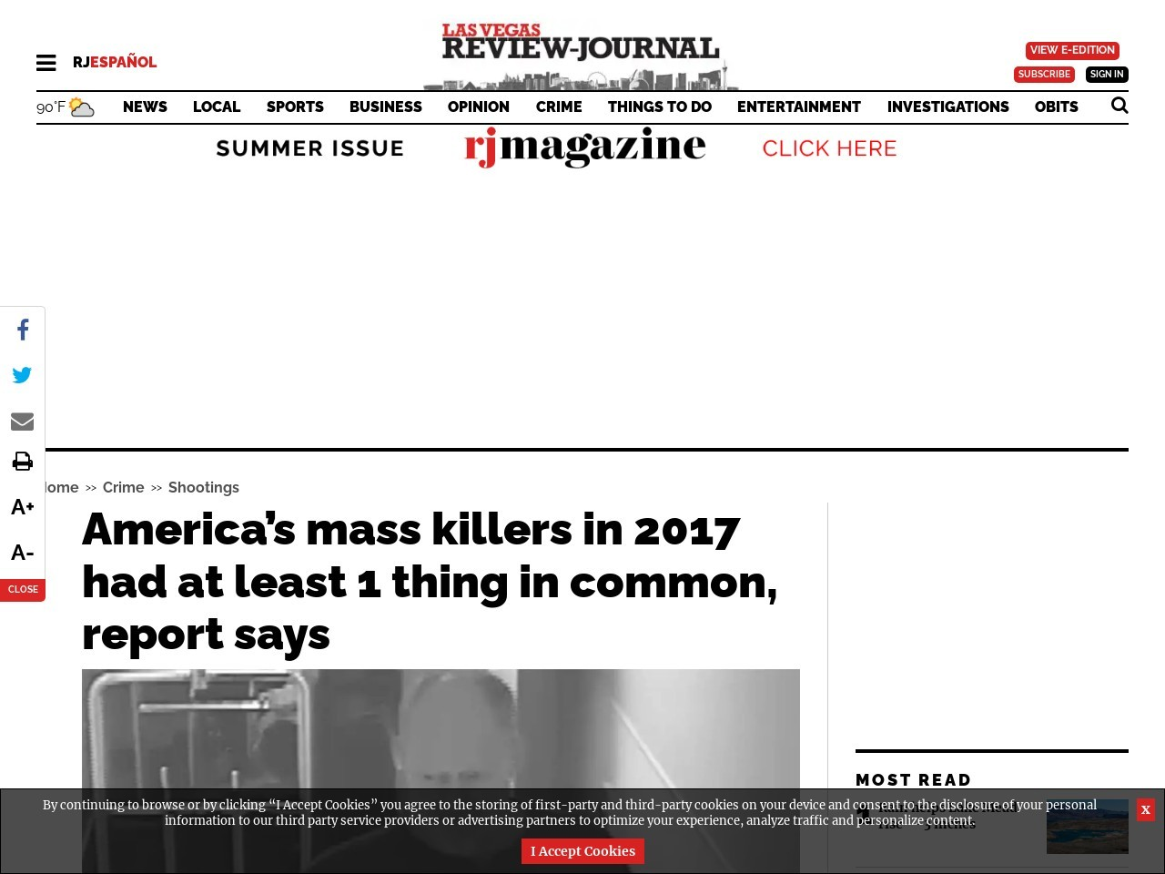 America's mass killers in 2017 had at least 1 thing in common, report says