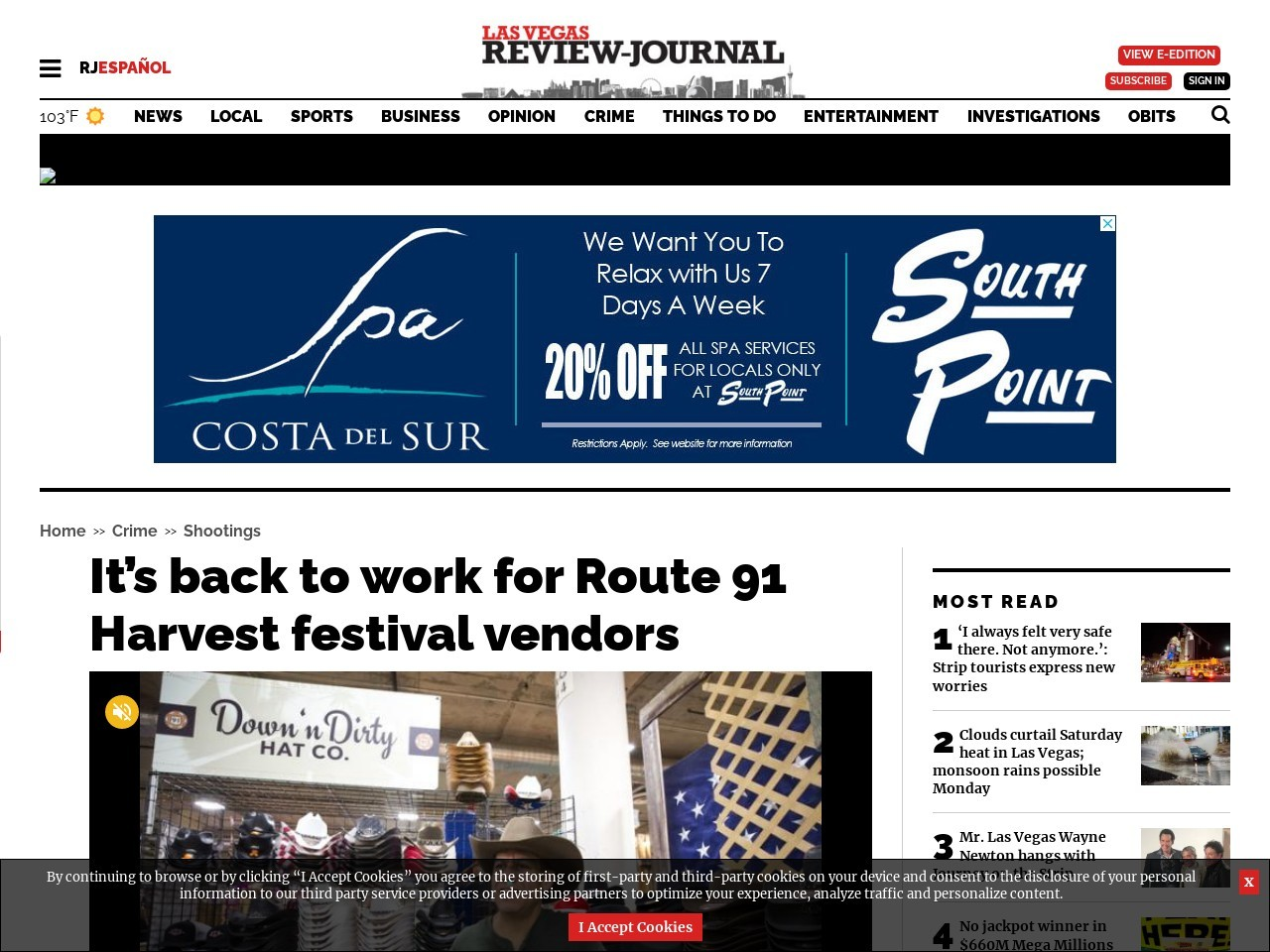 For Route 91 vendors, it's back to work