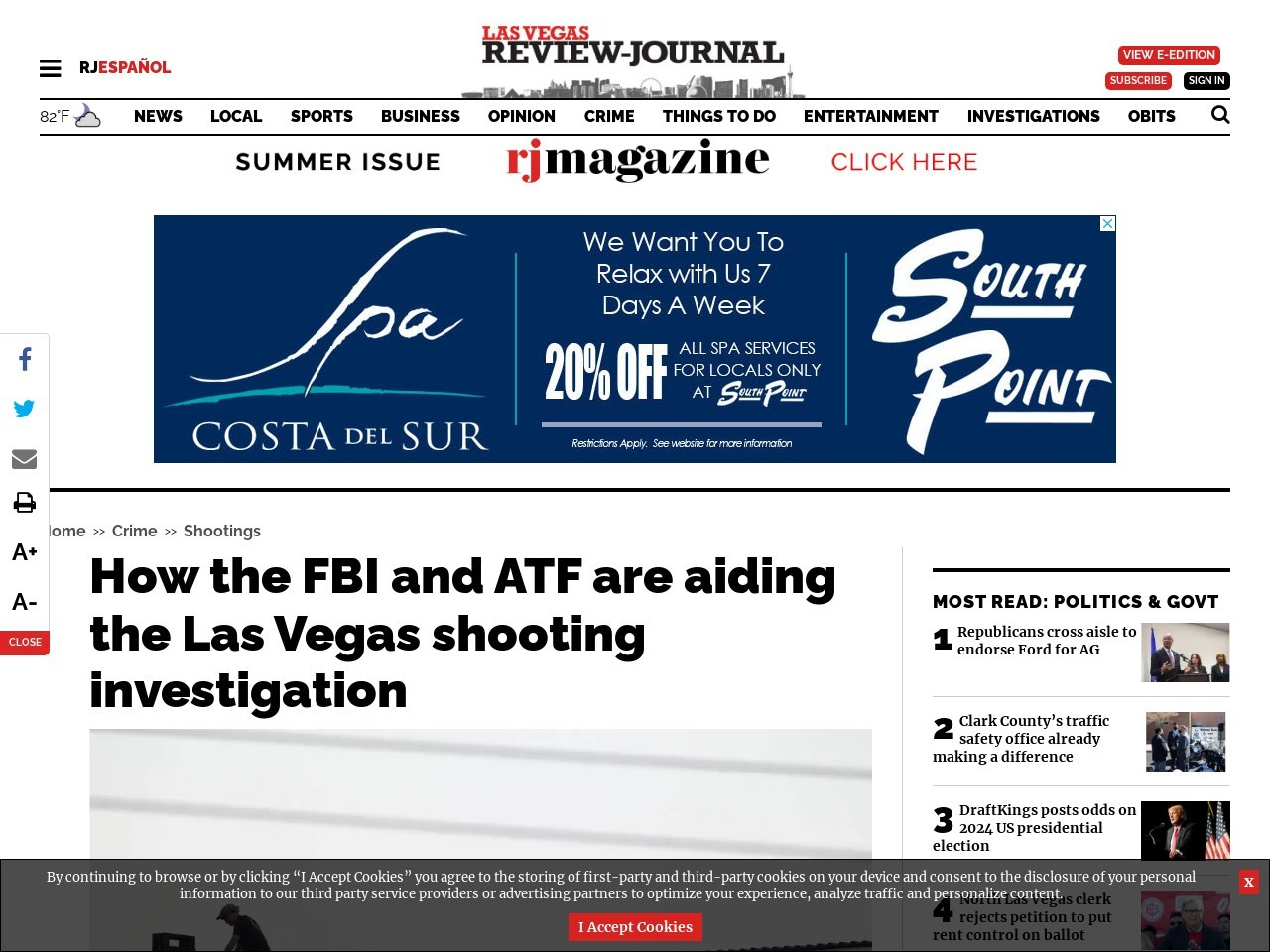 How the FBI and ATF are aiding the Las Vegas shooting investigation